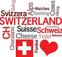 I Love Switzerland by AntiqueImages