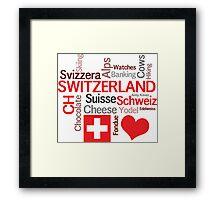 I Love Switzerland Framed Print
