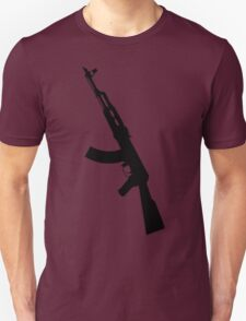 AK47 - Silhouette Unisex T-Shirt