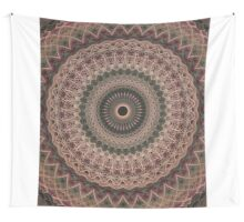 Detailed mandala in pale tones Wall Tapestry