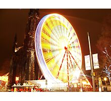 Festive Edinburgh Photographic Print