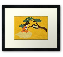 Father and Son (paper) Framed Print