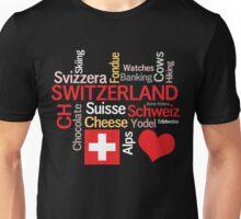 I Love Switzerland Unisex T-Shirt