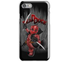 The Dead Duck Red Black Ninja iPhone Case/Skin