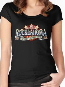 ROCKLAHOMA 2016 anniversary 10th - top selling Women's Fitted Scoop T-Shirt