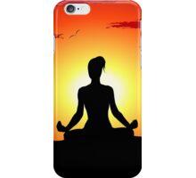 Female Yoga Meditating  iPhone Case/Skin