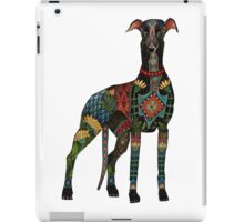 greyhound white iPad Case/Skin