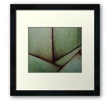 Beautiful Unique maple green wood veneer design Framed Print