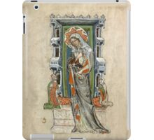 Medieval Miniature - Saint Hedwig of Silesia with Duke Ludwig of Legnica and Brieg and Duchess Agnés (1353 AD) iPad Case/Skin