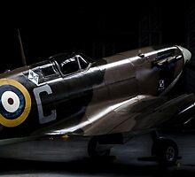 RAF Spitfire in the Hanger by captureasecond