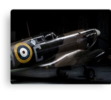RAF Spitfire in the Hanger Canvas Print