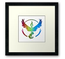 °GEEK° Team Valor Rainbow Framed Print