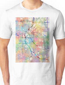 Denver Colorado Street Map Unisex T-Shirt