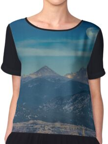 Moonset Over Indian Peaks Chiffon Top