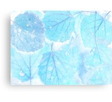 Blue leaves Canvas Print
