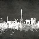 Paris France Skyline by Michael Tompsett
