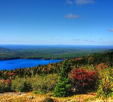 Touch Of Fall On Eagle Lake by Nancy Richard