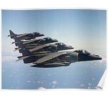RAF Harrier 4-ship Poster