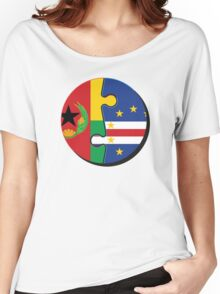 Cape Verdean Flag Transition  Women's Relaxed Fit T-Shirt