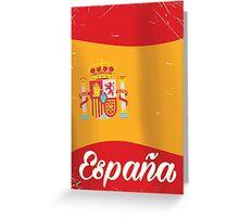 España vintage travel vintage map vacation poster  Greeting Card