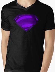 Alternate Super Purple Bizarro Symbol Mens V-Neck T-Shirt