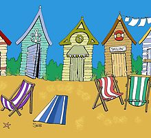Summer Beach Huts by Snug