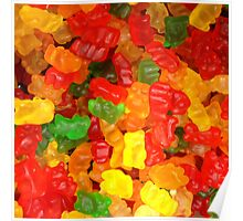 colorful sweet tooth foodie candy gummy bear  Poster