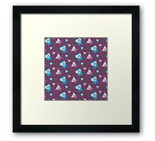 Two cute Monsters Framed Print