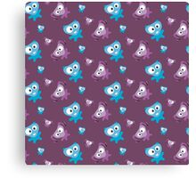 Two cute Monsters Canvas Print