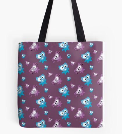 Two cute Monsters Tote Bag