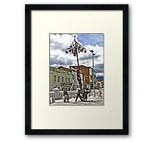 Family Afternoon Fun Framed Print