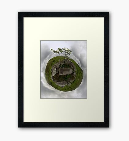 Tomb: Croaghbeg Court Tomb, Shalwy Valley, Donegal Framed Print