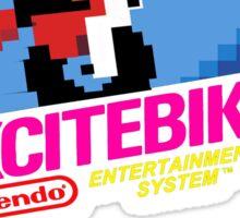 NES Excitebike Transparent  Sticker