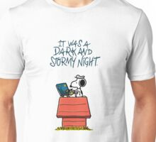 It was a dark and stormy night Unisex T-Shirt