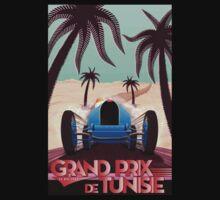 """GRAND PRIX of TUNISIA"" Vintage Auto Racing Print One Piece - Long Sleeve"