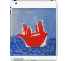 red boat iPad Case/Skin