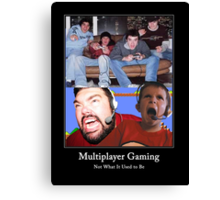 Multiplayer Gaming - Colour Canvas Print
