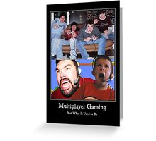 Multiplayer Gaming - Colour Greeting Card