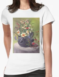 Puffer Fish Teapot Womens Fitted T-Shirt