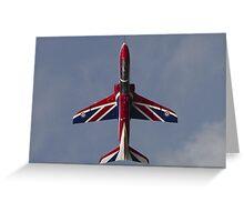 RAF Union Jack Hawk Greeting Card