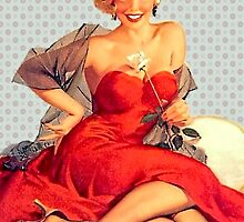 Retro pinup red dress by © Kira Bodensted