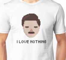 Ron Swanson - 'I Love Nothing', Parks and Rec Unisex T-Shirt