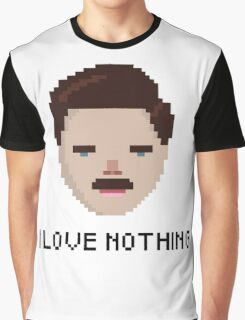 Ron Swanson - 'I Love Nothing', Parks and Rec Graphic T-Shirt