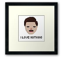 Ron Swanson - 'I Love Nothing', Parks and Rec Framed Print