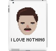 Ron Swanson - 'I Love Nothing', Parks and Rec iPad Case/Skin