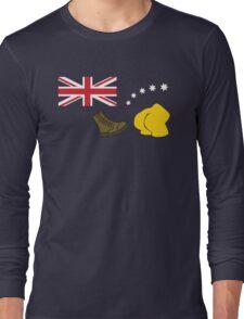 The Simpsons – Australian Flag, Boot, Australian Long Sleeve T-Shirt