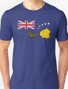 The Simpsons – Australian Flag, Boot, Australian Unisex T-Shirt