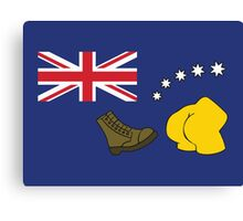 The Simpsons – Australian Flag, Boot, Australian Canvas Print