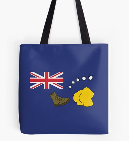 The Simpsons – Australian Flag, Boot, Australian Tote Bag