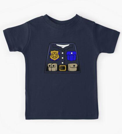 Cop Policeman Minifig Kids Tee